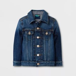 NEW Girl's /Toddler Jean Jacket with Striped Cuffs